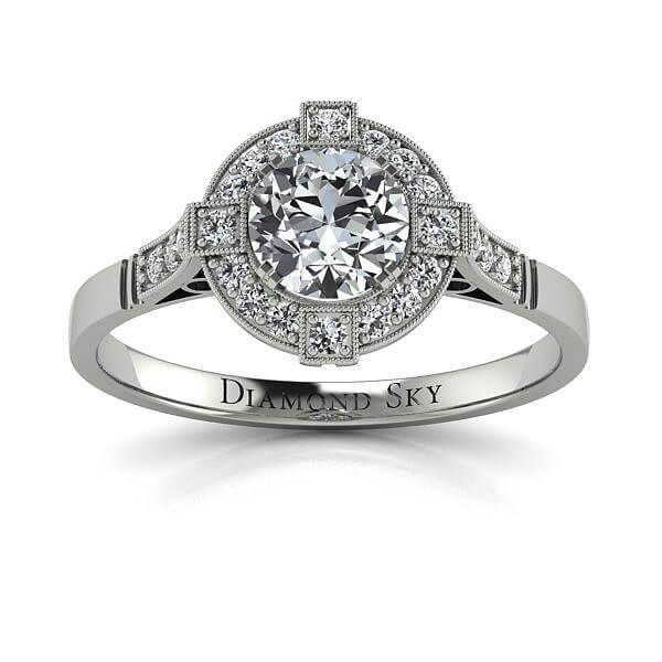 Królewski szyk - Pierścionek zaręczynowy z platyny z diamentem