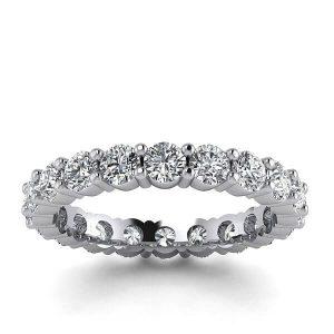 Diamentowy blask - Obrączka ślubna z białego złota z brylantami