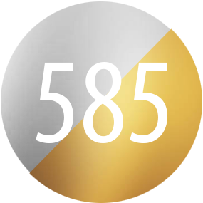 Kamienie: Dwukolorowe zloto 585