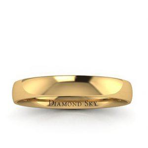 Klasyka piękna - Obrączka ślubna z żółtego złota, 3mm