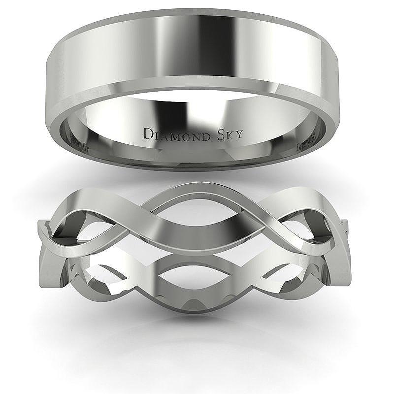 Związani miłością - Obrączki ślubne Diamond Sky z białego złota