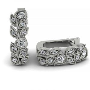 Naturalne piękno - Kolczyki z z białego złota Diamond Sky z brylantami