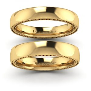 Ekskluzywna klasyka - Komplet obrączek z żółtego złota, 4mm