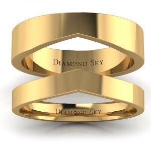 Miłosne dopasowanie - Obrączki ślubne z żółtego złota, 3,5mm, 4,8mm
