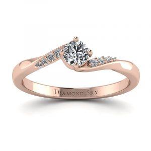 Brylantowy czar - Pierścionek zaręczynowy z różowego złota z brylantem 0,20 ct SI1/H