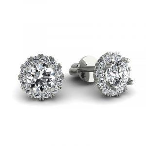 Urok piękna - Kolczyki z białego złota z diamentami