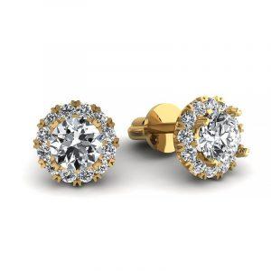 Urok piękna - Kolczyki z żółtego złota z diamentami