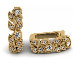 Naturalne piękno - Kolczyki Diamond Sky z żółtego złota z diamentami