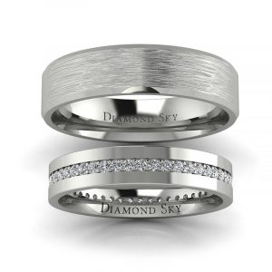 Blask miłości - Obrączki ślubne z platyny z diamentami 0,28 ct SI1/H, 3,5mm, 5mm